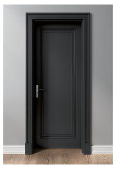 Interior Door Styles, Black Interior Doors, Door Design Interior, Modern Interior, Wooden Interior Doors, Interior Trim, Dark Doors, The Doors, Bedroom Door Design