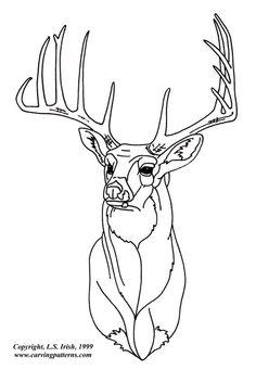 Deer Stencil | White Tail Deer Pattern Package - World of Patterns