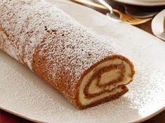 Pumpkin Roulade with Ginger Buttercream from Ina Garten Foodnetwork