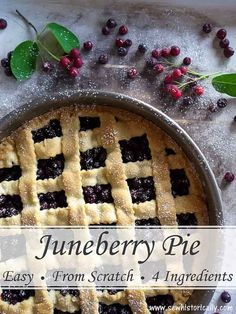 Juneberry Pie – Easy