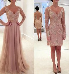 2 in 1 Prom Dress with Removable Skirt, Prom Party Dresses, Formal Dress For Teens BPD0029