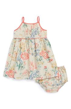 Ralph Lauren Floral Print Sleeveless Dress   Bloomers (Baby Girls)    Nordstrom 0d0e4d3594f
