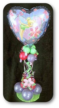 Tinkerbell Centerpiece by Maries' Balloons, via Flickr