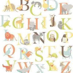 Fine Decor Alphabet Zoo WallPops Wall Stickers