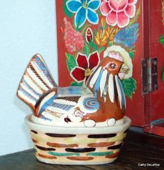 Tlaquepaque Mini Chicken Casserole   Folk Art by CathyDeLeRee, $70.00