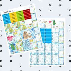 http://www.etsy.com/ca/shop/SiriusStickersCo?ref=hdr_shop_menu Printable Planner Stickers Happy Planner Christmas Winter