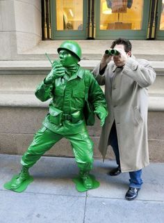 Green Army Man cosplay. How amazing is this?! #autism #aspergers