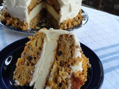 Skyscraper Carrot Cake/Cheesecake Recipe | Just A Pinch Recipes