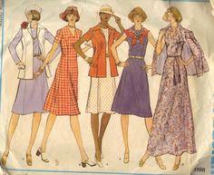 Used Womens Vogue Dress Pattern Size 16 #1198 $3 Ship