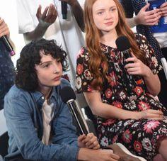 Finn Wolfhard and Sadie Sink at San Diego Comic Con (2017)