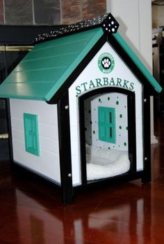 dog houses for large dogs | How cute is this? Spoil your furry family member(s) with a posh doggy ...