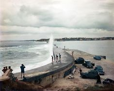 Robert Capa (1913-1954 Hungarian) • Jetty Biarritz France August, 1951