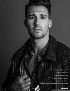 Male Fashion Trends: James Maslow luce eclécticos prints para Bello Magazine