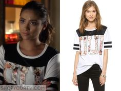 Pretty Little Liars: Season 5 Episode 17 Emily's Floral Oui Tee