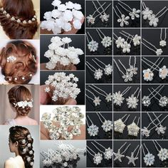 Hair Accessories Details about COOL Wholesale Wedding Bridal Flower Crystal Hair Pins Clips Bridesmaid COOL Wholesale Wedding Bridal Flower Crystal Hair Pins Clips Bridesmaid Bridal Flowers, Beaded Flowers, Flowers In Hair, Hair Brooch, Bride Hair Accessories, Women's Accessories, Wedding Hair Pins, Pearl Flower, Crystal Flower