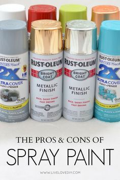 Everything you need to know about spray paint all in one place! This is great!