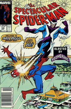 Spectacular Spider-Man (1976 1st Series) 144 Marvel Comics Peter Parker Comic book covers Super Heroes Villians Amazing Astonishing silver bronze modern age