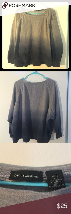 DKNY grey and blue shirt! very good condition and quality DKNY Tops Sweatshirts & Hoodies