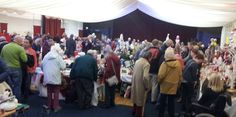 A fantastically busy bustling Christmas Fayre today .. soo many people and so many wonderful stalls.
