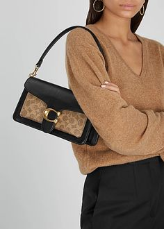 Leather Shoulder Bag, Leather Bag, Shoulder Strap, Black Leather, Harvey Nichols, Mini Crossbody Bag, Coach Bags, Bag Accessories, Essentials