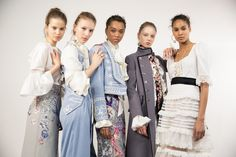 Temperley London Winter '16 backstage daywear