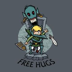 Check out this awesome 'Zelda+Wind+Waker+FREE+HUGS' design on TeePublic! http://bit.ly/1pyHatI