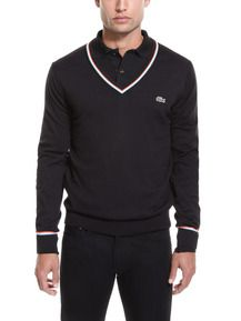 Lacoste Live - Tipped V-Neck Sweater