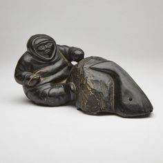 LUCASSIE ECHALOOK (1904-), E9-1582, PORT HARRISON / INUKJUAK HUNTER AND WHALE