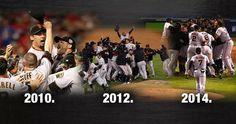 San Francisco Giants 2010, 2012 & 2014