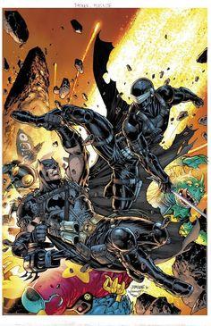 Batman Vs, Batman Versus, Jim Lee Batman, Superman, Rare Comic Books, Comic Books Art, Book Art, Gi Joe, B Card