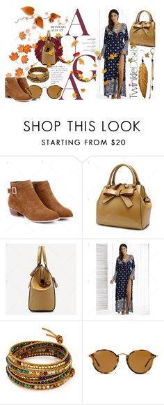 """""""Fall Into Style"""" by styleonapinch ❤ liked on Polyvore featuring Chan Luu and Ray-Ban"""