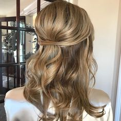 Wedding Half Updo With A Bouffant