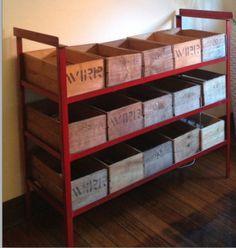 Fruit racks as wine rack Wine Rack, Magazine Rack, Home Furniture, Fruit, Storage, Home Decor, Purse Storage, Decoration Home, Home Goods Furniture