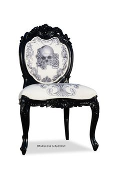 crystalbecky's save of Fabulous and Baroque — Modern Baroque Rococo Furniture and Interior Design on Wanelo Skull Furniture, Rococo Furniture, Cool Furniture, Furniture Stores, Gothic Interior, Interior Design, Eclectic Chairs, Goth Home Decor, Modern Baroque