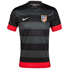 Atletico Madrid 2012/13 Jersey Away Black Soccer Jersey Shirt Replica $29. wish i could find real one.