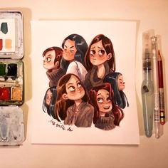 Ira Sluyterman van Langeweyde @iraville Painting Girl hea...Instagram photo | Websta (Webstagram)
