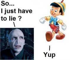 hahaha Harry Potter and Voldemort