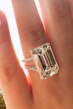 engagement rings for women unique emerald cut rose gold