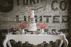 At the Burroughes all disco glam by Nadia and Co Vintage Dessert Tables, Cake Trends, Unique Wedding Invitations, Cake Table, Green Wedding Shoes, Sugar Flowers, Beautiful Bride, Wedding Inspiration, Wedding Ideas