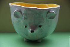 Чашка Мышь -  керамика ручной работы