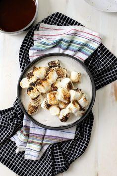 Toasted Marshmallow Ice Cream Cake with Salted Caramel | http://joythebaker.com/2015/08/toasted-marshmallow-ice-cream-cake-with-salted-caramel/