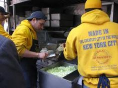 Chicken over rice please and NO hot sauce!  The Halal Guys in NYC.