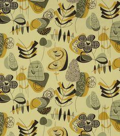 Home Decor Print Fabric-Covington Doo Wop 886 Mustard