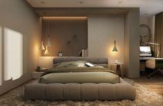 wohnideen schlafzimmer pendelleuchten led beleuchtung teppich