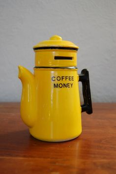Vintage Coin Bank  Coffee Money by clattersnap on Etsy, $12.00
