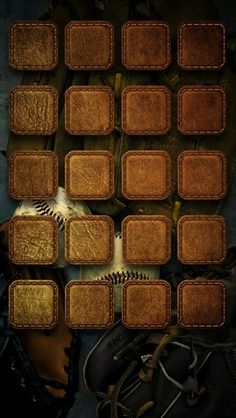 Brown Leather and Baseballs Icon Wallpaper
