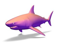 a 3D model of shark created with VECTARY - the free online 3D modeling tool #3Dprinting