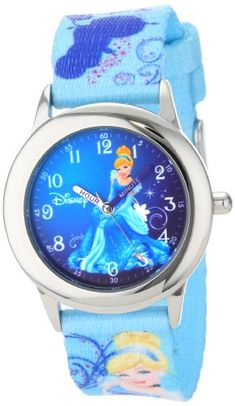 Disney Kids' W000861 Time Teacher Cinderella Stainless Steel Watch with Printed Nylon Band Disney http://www.amazon.com/dp/B00D6D9IYC/ref=cm_sw_r_pi_dp_3miUwb08Z46VE