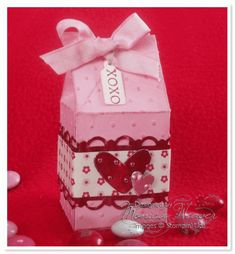 Heart to Heart Mini Milk Carton by ratona27 - Cards and Paper Crafts at Splitcoaststampers