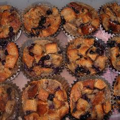 Bread Pudding Muffin's - Blueberry
